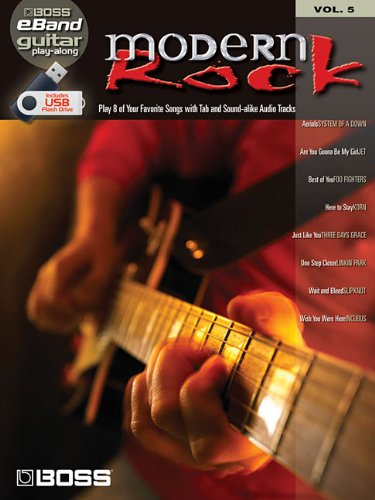 Boss eBand Guitar Play-Along Volume 5: Modern Rock: Songbook, Play-Along, Datenträger Sonstige für Gitarre (Book & Usb)
