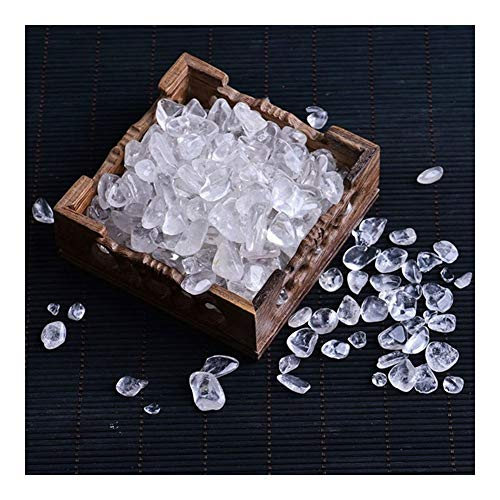 MINGMIN-DZ Dauerhaft 500 PC 50g natürliche Rosenquarz weißer Kristall Mini Rock Mineral Probe kann Heilung for Aquarium Steinhauptdekoration Handwerk verwendet Werden, (Color : Clear Quartz)