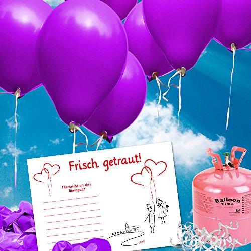 galleryy.net 100 Ballonflugkarten zur Hochzeit GELOCHT, Flugkarten für Hochzeitsballons im Set zum Hochzeitsspiel im Ballonflugkartenset - Hochzeit Luftballon-Hochzeitspaar