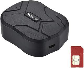 Rastreador GPS con Tarjeta SIM, Rastreador en Tiempo Real a Prueba de Agua Localizador GPS Coche de Alarma Anti-pérdida Pr...