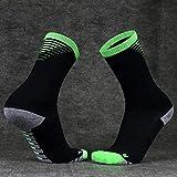 Calcetines de entrenamiento de fútbol desgaste resistente sensado toallero inferior absorben sudor alcoholable deportes calcetines de compresión Verde de cañón medio