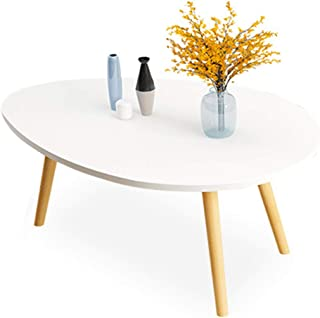 Simple Elegant Round Coffee Table End Table, Made of High Grade MDF with Durable Laminate Finishes, Use Streamlined Struct...