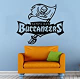 Tampa Bay Buccaneers Vinyl Decal Wall Sticker NFL Emblem Football Team Logo Sport Poster Home Interior Removable Decor