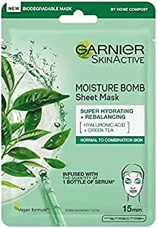 Garnier Moisture Bomb Green Tea Hydrating Face Sheet Mask