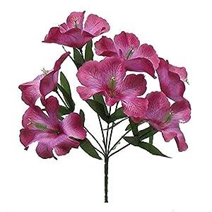 Artificial Flowers – Mauve 5X Hibiscus Artificial Silk Flowers Centerpiece Fake Faux Bouquet Party Tropical~ for Wedding – for Accessories