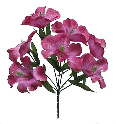 Mauve 5X Hibiscus Artificial Silk Flowers Centerpiece Fake Faux Bouquet Party Tropical, for Wedding Supplies