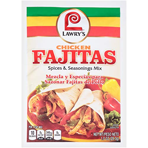 Lawry's Mix, Chicken Fajita Seasoning, 1-Ounce (Pack of 12)