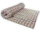 Rajasthan Handloom Large 2-Sleeping Capacity- Soft Cotton Mattress (Multicolour , 72 X 48 X 4)
