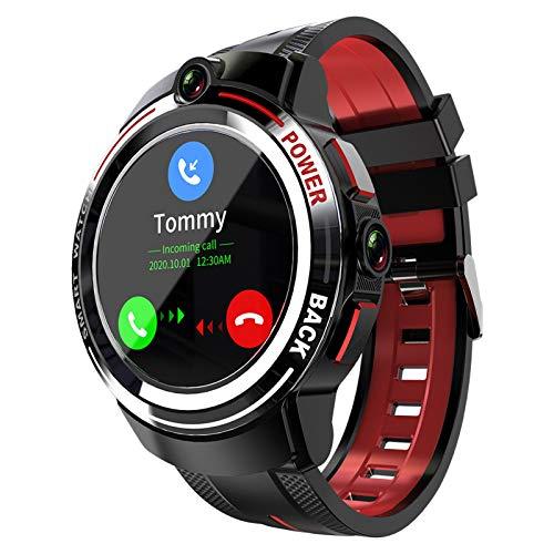 Lazzzgua 4G Smart Watch Men with Dual Camera 1.39 Inch Round Full Touch Screen WiFi Android Smartwatch Intelligent IP67 Waterproof Calls Men Sport Bracelet