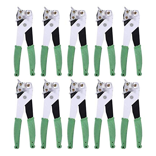 Paquete de 10 abrazaderas para cortar baldosas de cerámica, alicates manuales para recortar vidrio con mango recubierto de pegamento, herramientas manuales de acero de aleación duraderas para trabajo