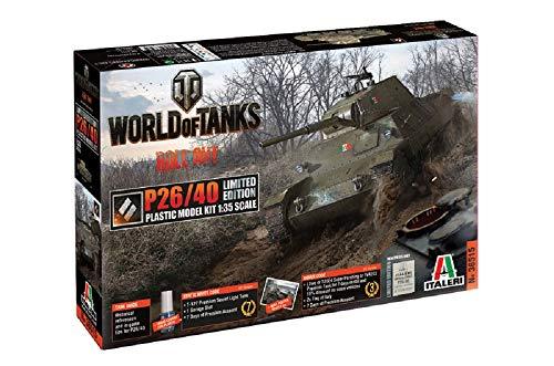 Italeri 36515 World of Tanks P26/40 Limited Edition Model kit carri armati plastica Scala 1:35
