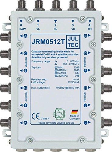 JULTEC JRM0512T Multischalter 12 Teilnehmer Receivergespeist (ohne Strom, Stromanschluss)