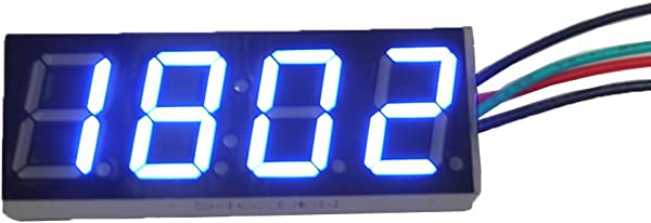 Ximico 0 56 Blue LED Meter Electronic Digital Car Motorcycle Clock Watch DC 12V 24V Time Display With Reverse Polarity Protection