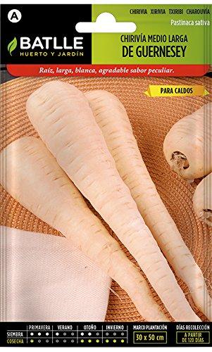 Semillas Hortícolas - Chirivia medio larga de Guernesey - Batlle