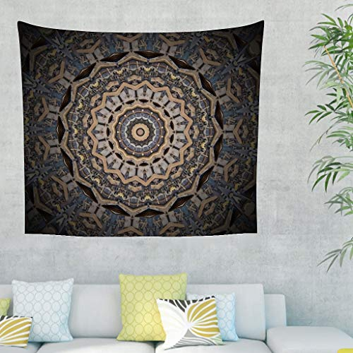 Twelve constellations Tapiz vintage de pared – Manta de playa para decoración del hogar, color blanco, 150 x 150 cm