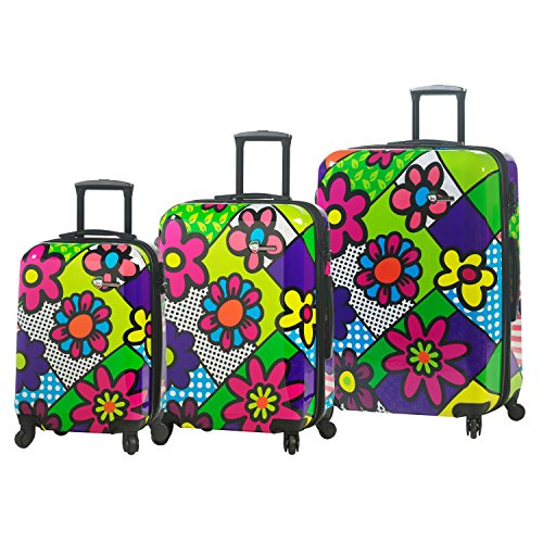 Buy Hontus Flower Largo Hardside Spinner Luggage 3pc Set, Flowery, One Size