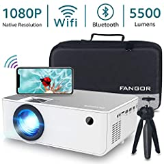 【NATIVE 1080P FULL HD RESOLUTION】With native resolution of 1920*1080 and contrast ratio of 5000:1, the Fangor-506 provides sharp and detailed HD images. Combining an innovative high-refraction 6 layers glassed lens, ensuring the best video experience...