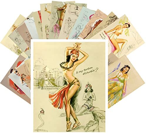 Vintage Christmas Beautiful Pinup Lady Dress CH4007 24 cards Postcards Pack