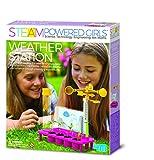 4M 00-04904 Die STEAM Powered Girls-Wetterstation Macht Kinder zu Wahren Wetterfröschen. Dieses Spielzeug ist die perfekte Ergänzung für EIN Kinderzimmer mit Forschergeist, bunt