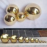 Yunhigh Mirando la Bola, Bola de Espejo de Bola de Acero Inoxidable de 7 cm Esfera Hueca Metal Decorativo Bola de Oro Mesa de jardín Ornamento de la casa