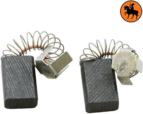 Buildalot Specialty koolborstels ca-07-87979 voor Makita freesmachine RP0900-6x10x15 mm - met veren, kabel en stekker - vervanging voor originele onderdelen 181410-1, 191904-8, CB-106 & CB-113