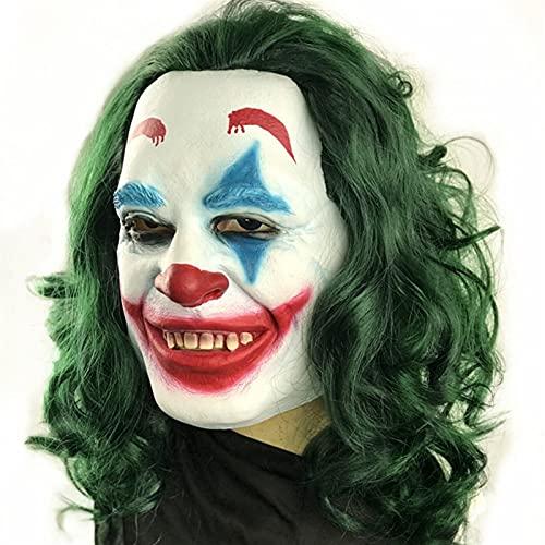 WYH Parrucche Sintetiche Lattice Naturale orribile Maschera Pagliaccio Parrucca Parrucca di Halloween Partito Cosplay Costume proport Parrucca Lace Front