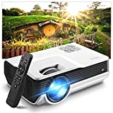 Mini Projector,Iolieo Supported HD 1080P Home Projectors,200'' Display 50000 Hours LED Life,Dual Speakers Portable Projector,Compatible with USB,HDMI,VGA,TF,PS4,Laptop,DVD