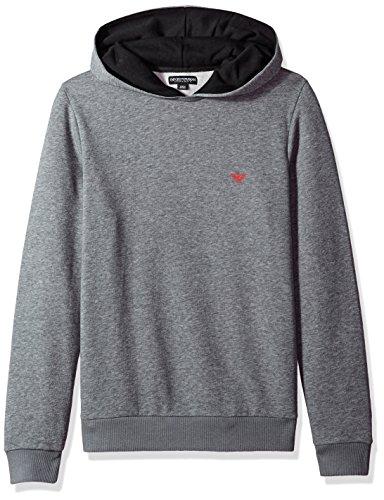 Emporio Armani Heren Basis Franse Terry Mock Hood Sweater Thermische Ondergoed Top