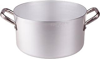 Pentole Agnelli FAMA512 Casseruola Alta, in Alluminio BLTF con Manico in Acciaio Inossidabile, 1 Litro, Argento