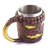 [Temps long chaud et froid]: Cette tasse de bière peut garder vos boissons préférées chaudes et froides plus longtemps que n'importe quelle tasse ordinaire.Il n'immerse pas non plus de produits chimiques nocifs dans votre boisson, il peut donc être u...