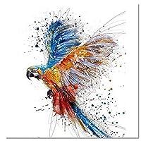 YYZK 鳥動物DIYデジタル絵画番号キット描画現代壁アートキャンバス絵画家の装飾Artwok 40*50 フレームレス