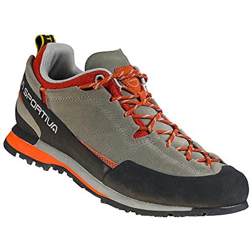 LA SPORTIVA Boulder X, Zapatillas de Senderismo Hombre, Clay/Saffron, 44.5 EU
