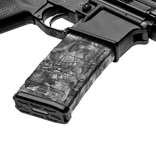 GunSkins AR-15 Mag Skin Camouflage Kit DIY Vinyl Magazine Wrap – 3 Pack (Proveil Reaper Black)