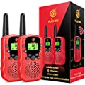Gifts for 6-12 Year Old Girls, dmazing Walkie Talkies for Kids Long Range with Backlit LCD Flashlight Birthday Thanksgiving Halloween Xmas Gifts for 3-6 Year Old Girls Kids Toys Age 3-6 Red