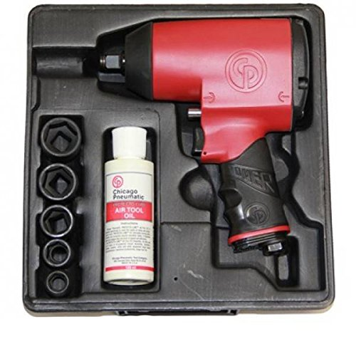 Chicago Pneumatic 0001802 Impact Wrench Gun Kit, Maximum Performance and...