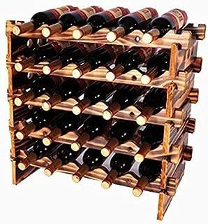 5 Tier Display Wine Holder - Household Wooden Wine Racks - Freestanding Storage Wine Rack - 25 Bottle Capacity