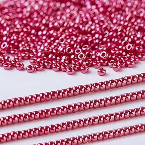 Cuentas japonesas para mujer, pendientes de joyería, accesorios para hacer pulseras, 11/0, 2,0 MM, 5 gramos / lote, aproximadamente 500 piezas-425