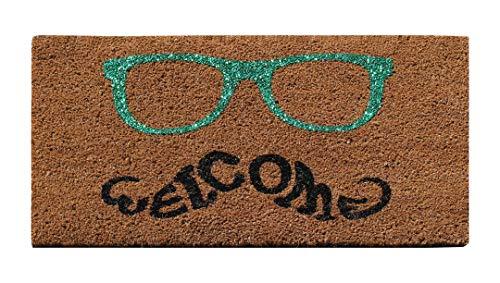 A1 Home Collections First Impression Fußmatte mit grünen Gläsern, 45,7 x 76,2 cm
