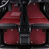 Alfombrillas Coche para Honda Accord 2003 2007 CRV Jazz City Civic Stream Fit Odyssey Alfombrilla Impermeables para Todo Clima Antideslizantes Alfombras Coche Accesorios-Negro Rojo Vino