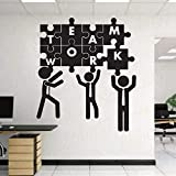 Art Wall Sticker Puzzle Team Wall Decoration Vinyl Kunst Decorative Removeable Poster Office Space...