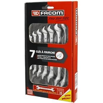 Set of 9 8 to 19mm multicolor Facom 440.JP9PB Juego 9 llaves mixtas en soporte