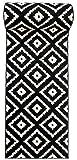 Läufer Teppich Brücke Teppichläufer - Orientalisches Marokkanische - Flor Modern Designer Muster - Kollektion von Carpeto - Schwarz Weiß - 60 x 200 cm