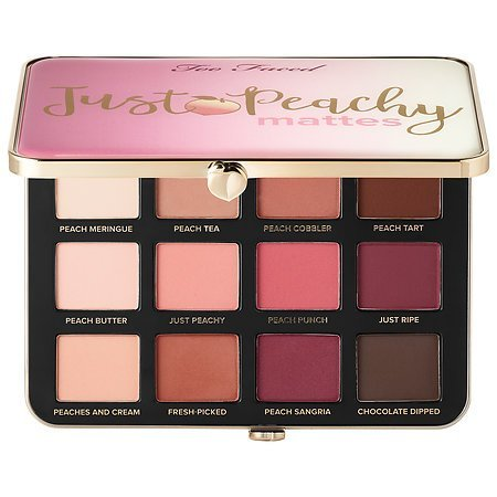 "Too Faced Palette di ombretti opachi ""Just Peachy Velvet"" – Collezione Peaches and Cream"