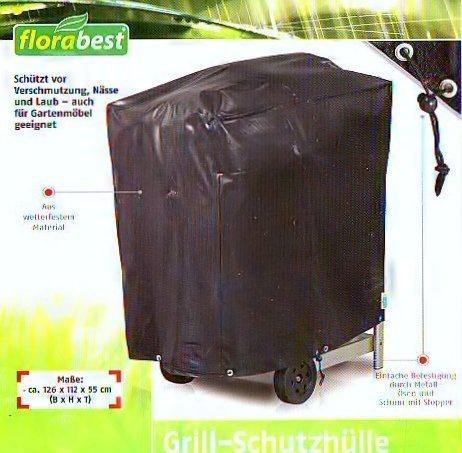 Florabest Grill-Schutzhülle /Plane aus wetterfestem Material 126 x 112 x 55 cm