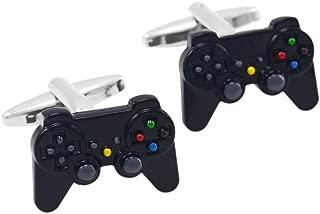 FITYLE Game Controller Cufflink Black Cuff Link Geek Playstation Mens Fashion