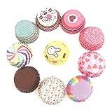 Mlian Muffinförmchen Papier 100 Stück Papierförmchen Cupcake für Pudding Dessert