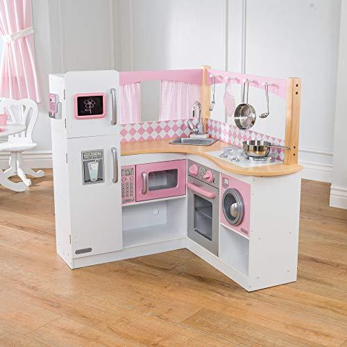 KidKraft 53185 Grand Gourmet Eck-Spielküche, rosa & weiß - 3