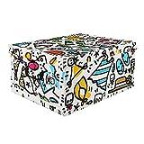 Scatola Multiuso B.Simo Limited Edition 50x40x25 cm Multicolore
