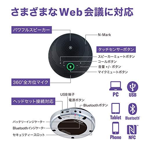ヤマハユニファイドコミュニケーションスピーカーフォンUSB/Bluetooth対応ブラックYVC-200B
