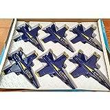 Unbranded Set of 6 F/A 18 Hornet US Navy Blue Angels Fighter Plane - diecast Model 7' 1:50